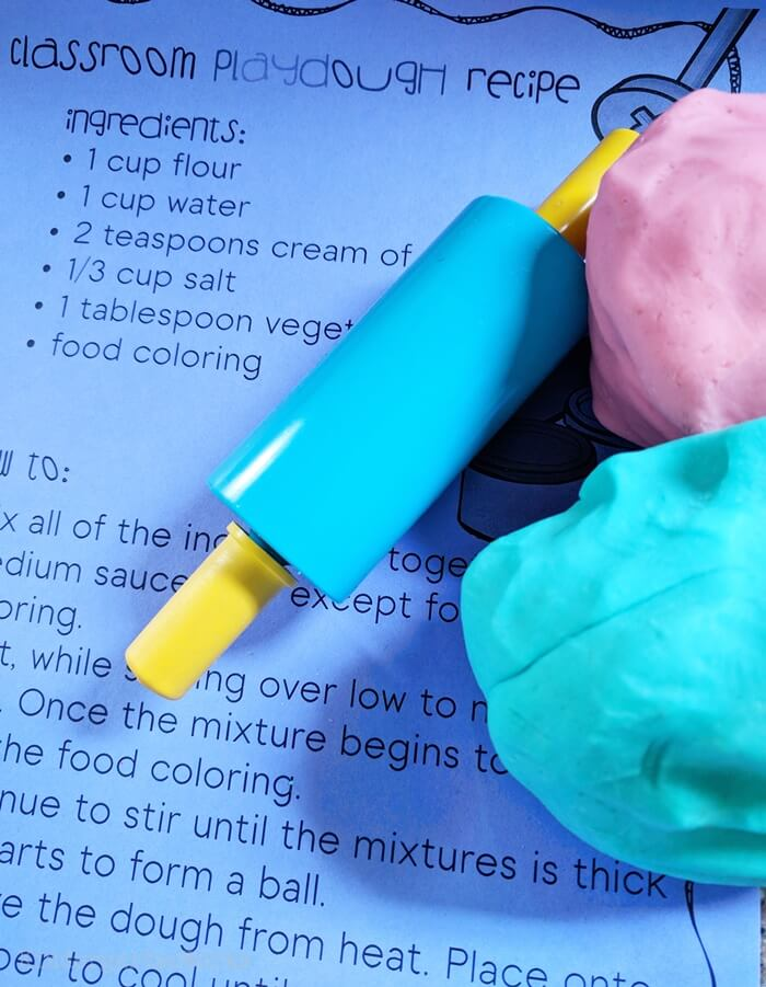 Classroom Playdough Recipe - Free Printable