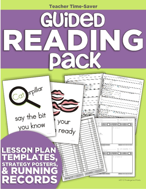 Guided Reading Planning Binder for Kindergarten - This is exactly what I need to get organized and save time planning lessons