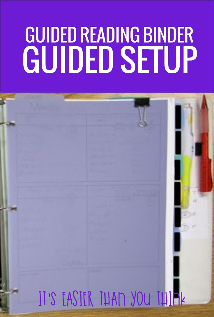 How to set up a guided reading binder the easy way - this is awesome