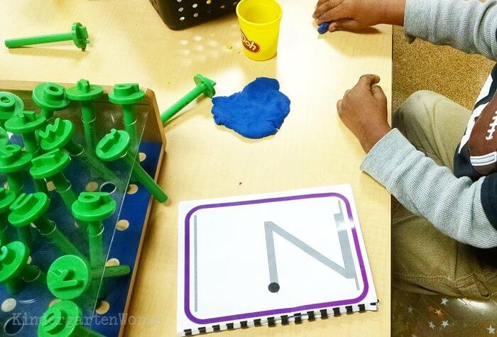 Play dough Letter Cards for Kindergarten Literacy Center