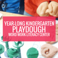 Year-Long Playdough Word Work Literacy Center