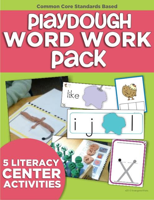 Playdough Word Work Center in Kindergarten {You can too!} KindergartenWorks