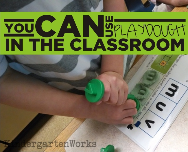 Playdough Word Work Center in Kindergarten {You can too!} KindergartenWorks