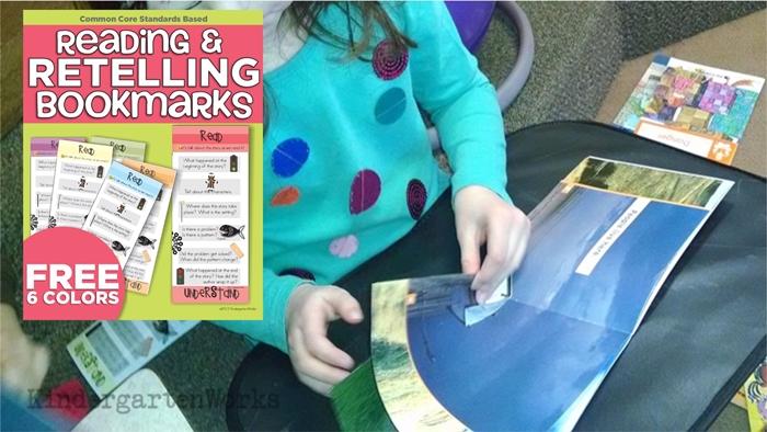 Free Kindergarten Reading Comprehension Bookmarks