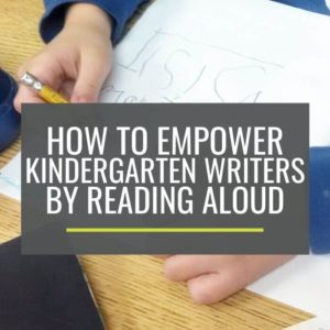 How to Empower Kindergarten Writers By Reading Aloud Plus Free Reading Comprehension Bookmarks - KindergartenWorks