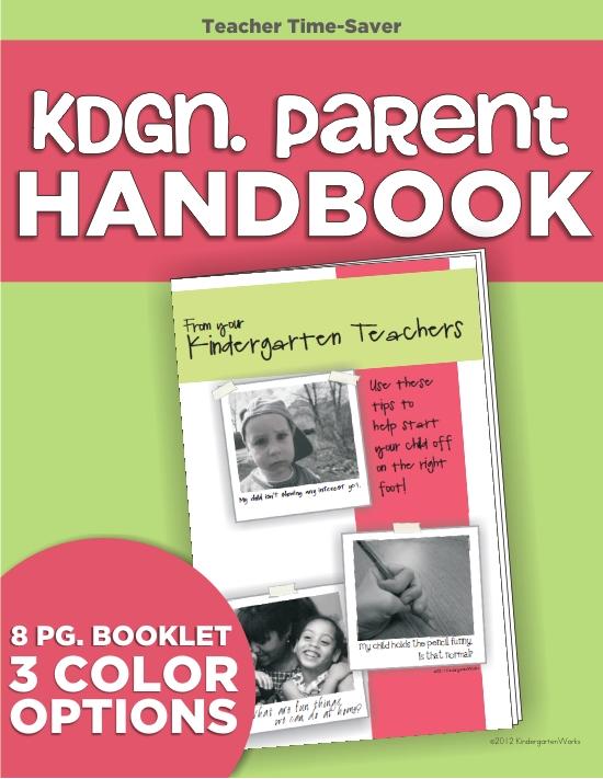 """Kindergarten Parent """"Handbook"""" Brochure :: KindergartenWorks"""