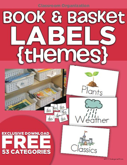 Classroom Library Organization Made Simple - I love these free book basket labels for my classroom library. I can't believe there are over 50 categories. Easy to organize in a binder for extra labels.