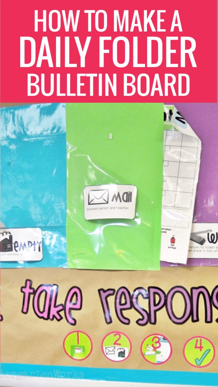 How to Make a Daily Folder Bulletin Board