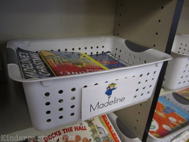 Classroom Library Organization Made Simple - Use easy to read labels with pictures for kindergarten. They can easily organize, get and return books!