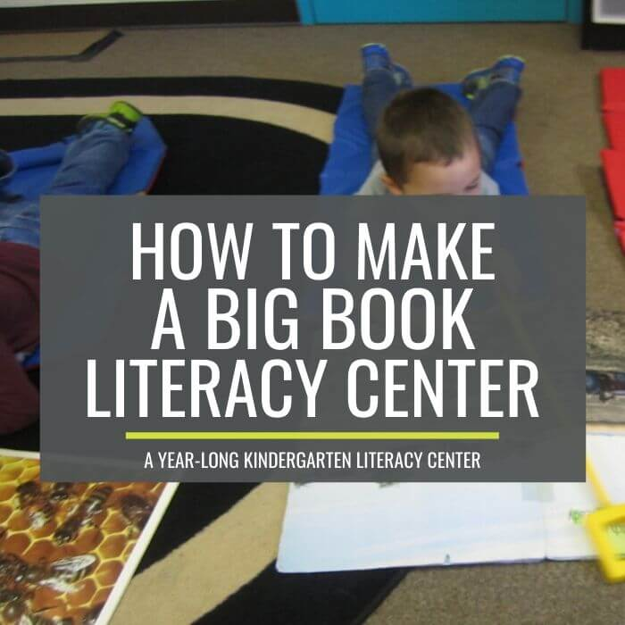 How to make a big book literacy center - I can totally make this center for free and last all year long