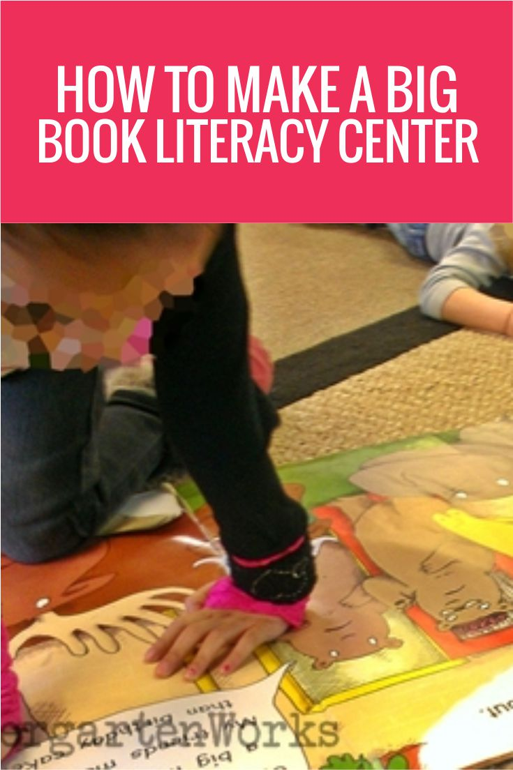 This is one of the best ideas ever - How to make a big book literacy center in kindergarten - it's so easy!