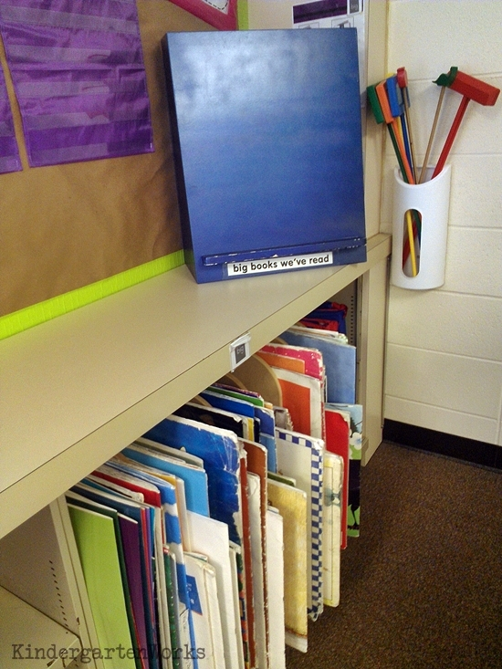 How to make a big book literacy center - I like the organization for this center. Seems easy enough!