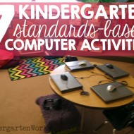 7 kindergarten standards-based computer activities