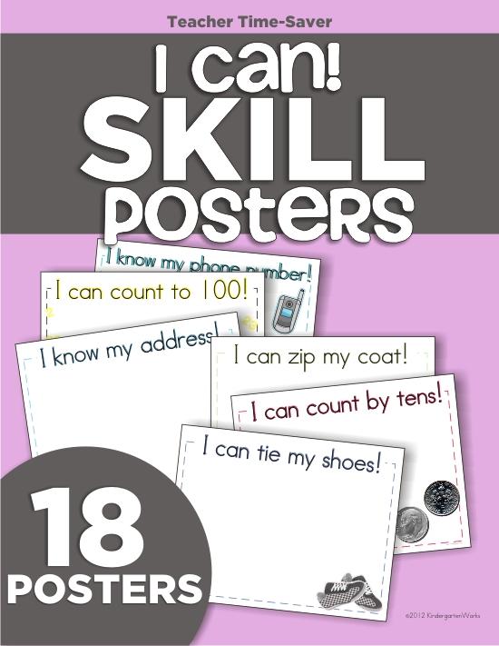 Kindergarten Skill Posters2 - Goals For Kindergarten Teachers