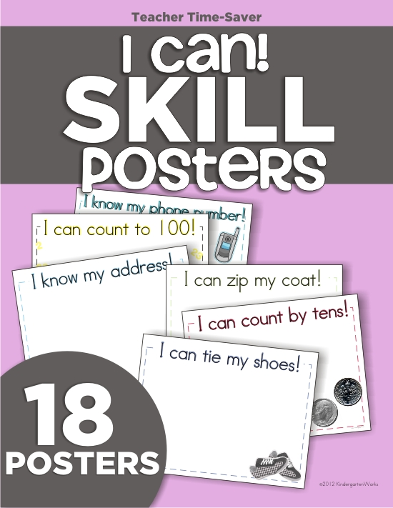 KindergartenWorks - kindergarten learning skills {on display}