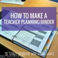 How to make a teacher planning binder - I can totally make one of these