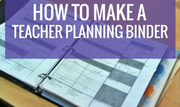 How to Make a Teacher Planning Binder {Binder Basics}