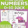 monster numbers {tools to learn 0-10} - KindergartenWorks
