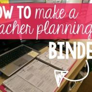 teacher organization tips – planning binder