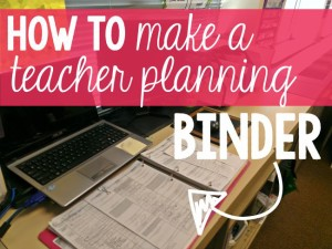 Teacher Organization Tips - Planning Binder KindergartenWorks