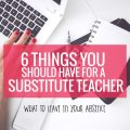 I like this list of 6 Things You Should Have for a Substitute Teacher - I think it'd be simply to pull it together to have for any day I'm absent in kindergarten