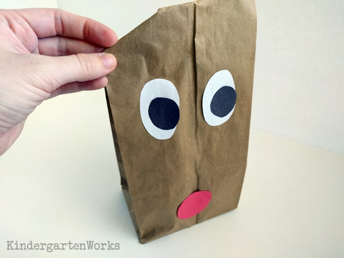 Easy Christmas Gift Wrap for Kindergarten - bend and fold paper bag