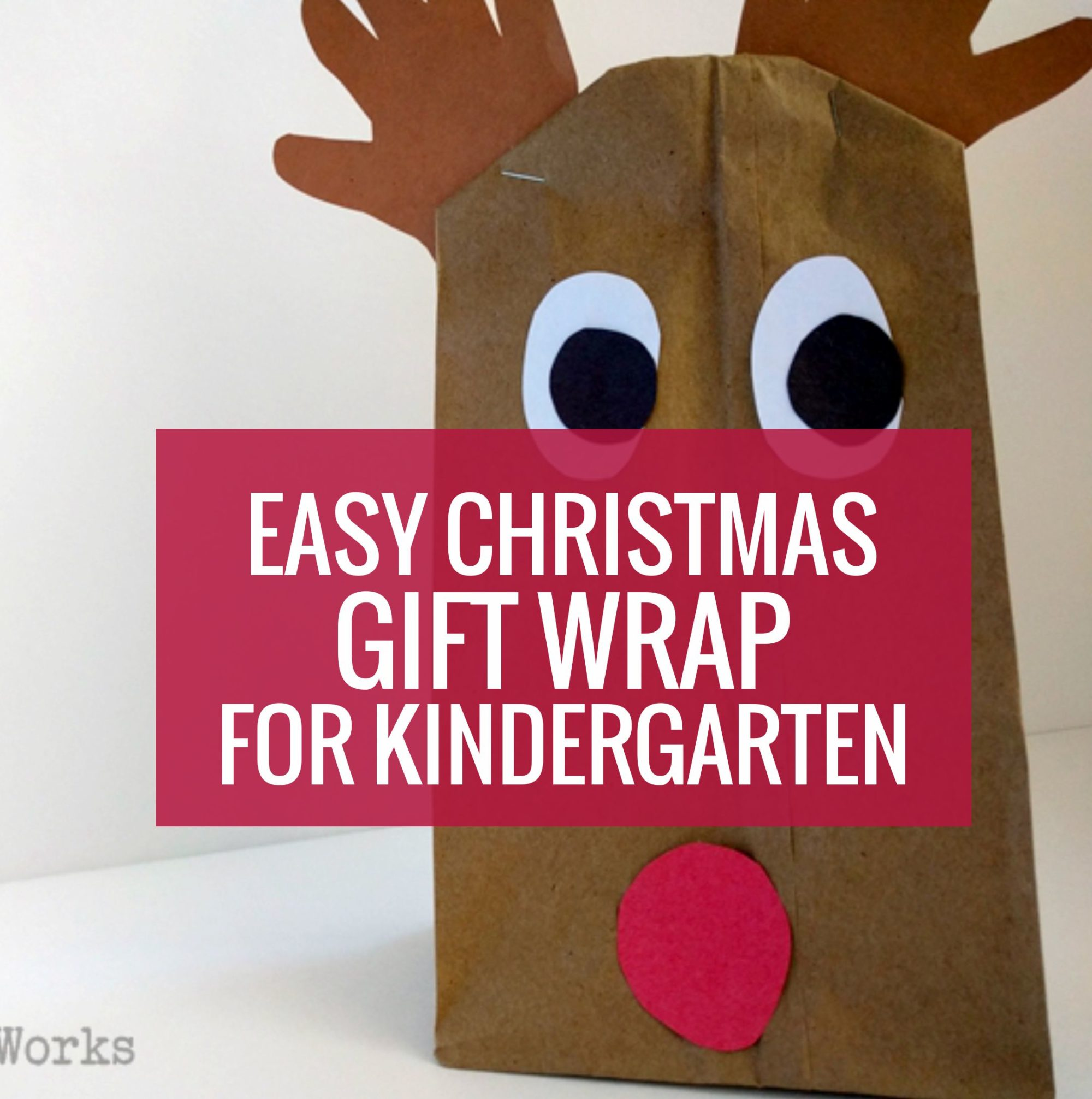 How to Wrap Chistmas presents in kindergarten - Christmas gift wrap
