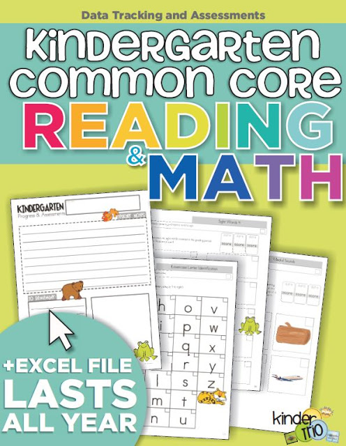 kindergarten common core assessments - the complete package