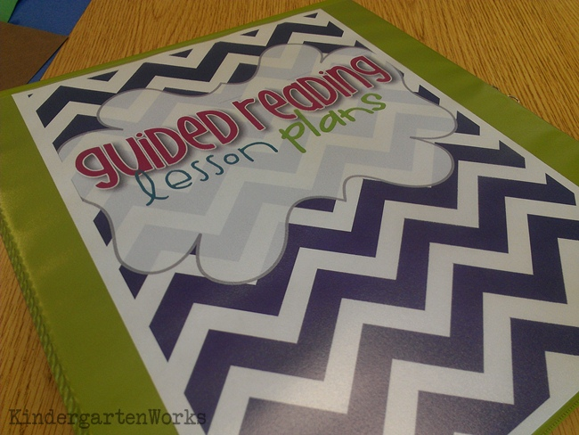 Guided Readling Lesson Plan Binder