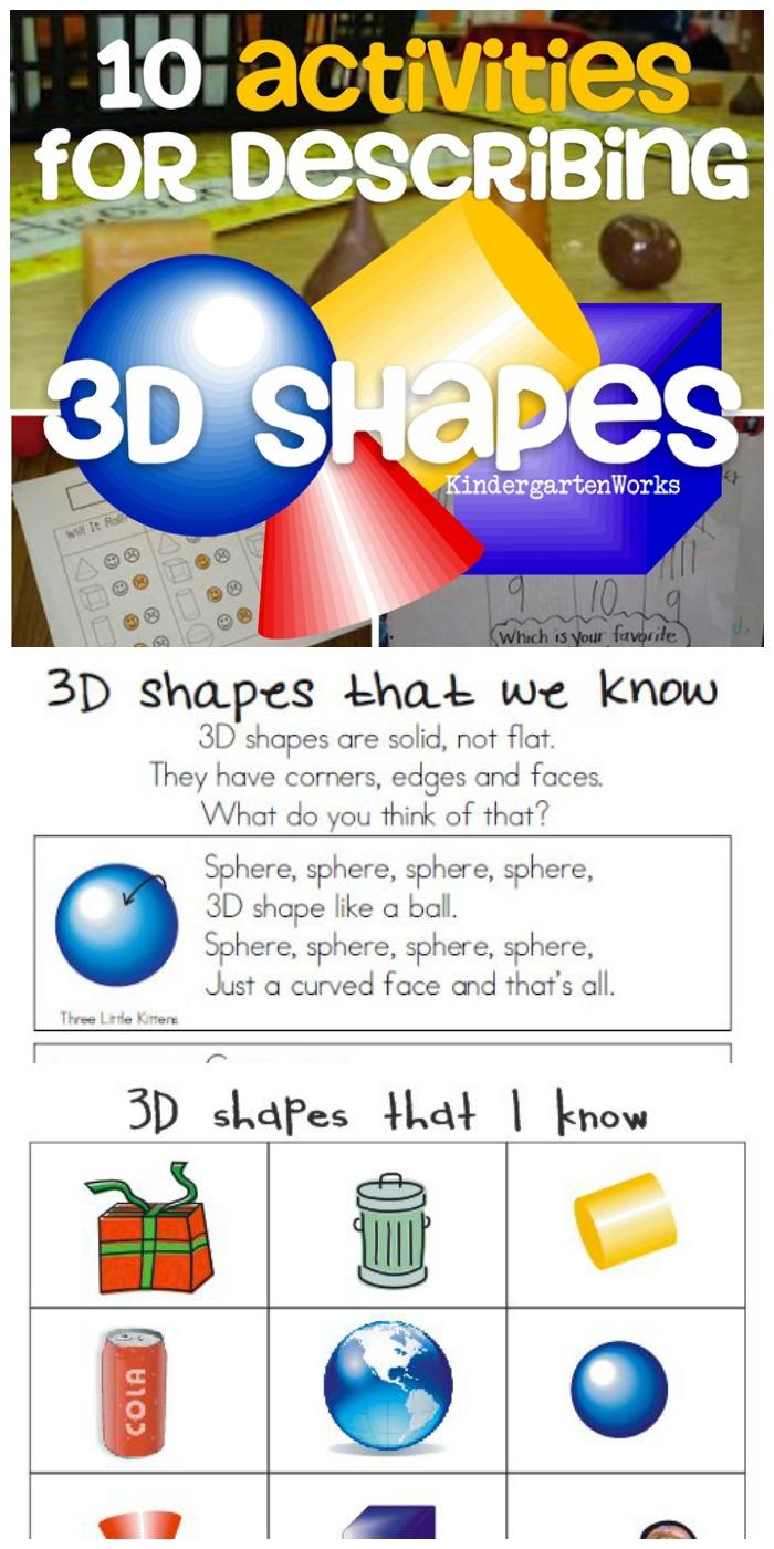 10 activities for describing 3d shapes in kindergarten k g 3 kindergartenworks. Black Bedroom Furniture Sets. Home Design Ideas