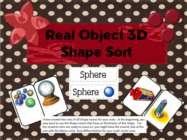 KindergartenWorks :: 10 Activities for Describing 3D Shapes in Kindergarten (K.G.3)