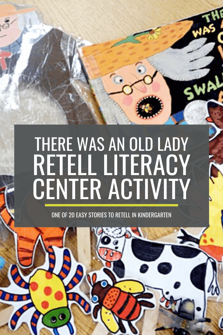There Was An Old Lady Who Swallowed a Fly Retell Literacy Center Activity