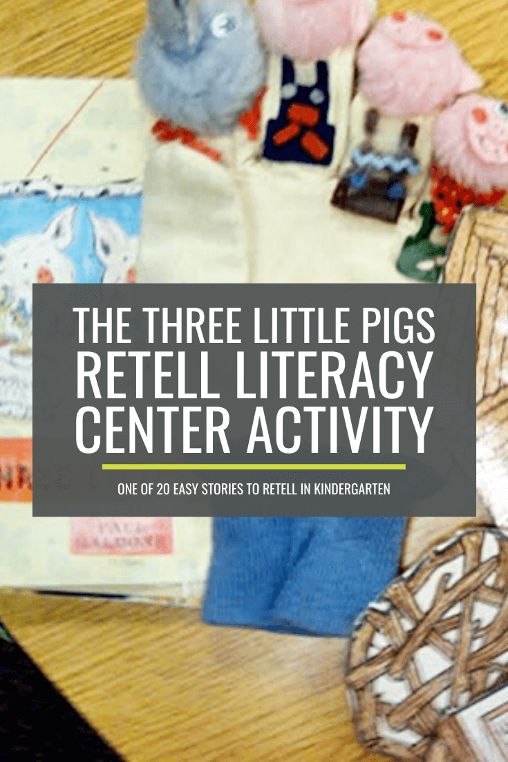 The Three Little Pigs Retell Literacy Center Activity