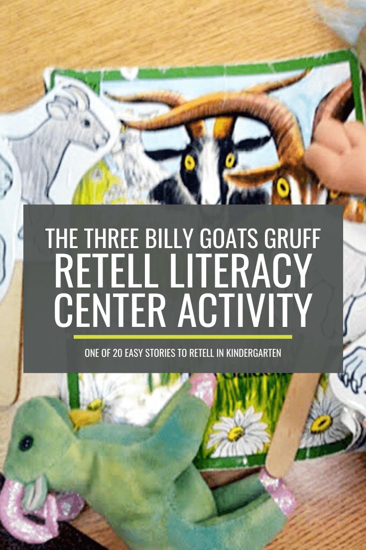 The Three Billy Goats Gruff Retell Literacy Center Activity