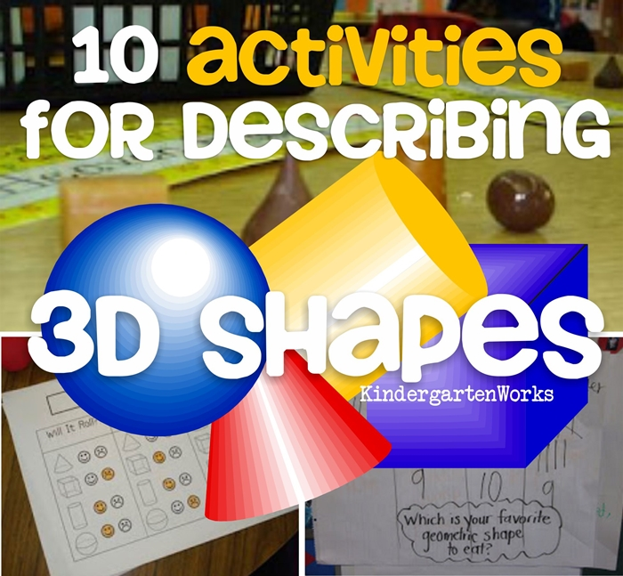 describing 3d shapes kindergarten common core
