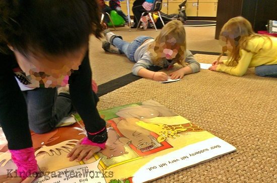 How to make a big book literacy center - this is a great idea for kindergarten and so easy