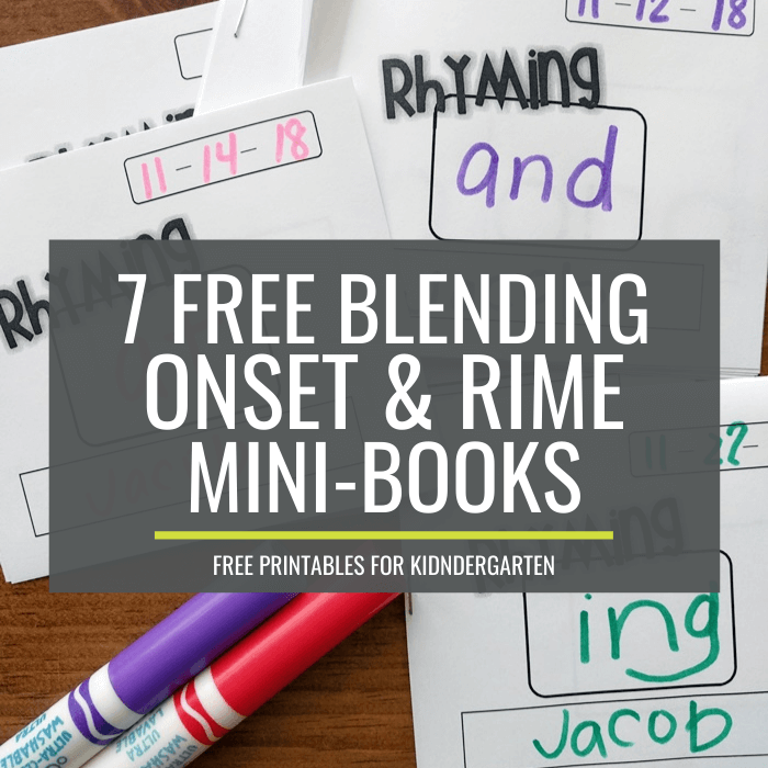 Rhyming and Blending Onsets and Rime