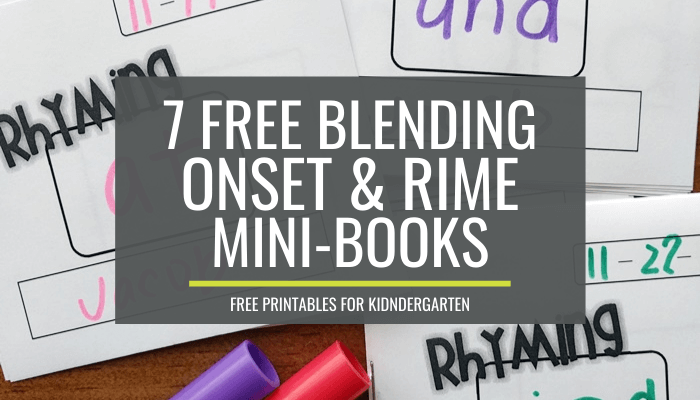 Rhyming and Blending Onsets and Rime {free printables}