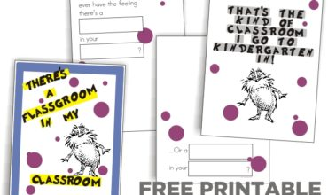 Rhyming and a Dr. Seuss Class Book {free printable}