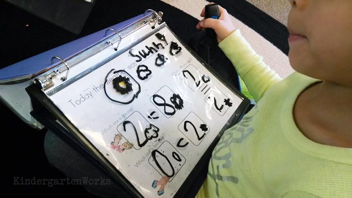 Calendar binders in kindergarten