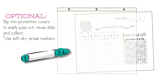 calendar time binders - teaching common core standards whole group