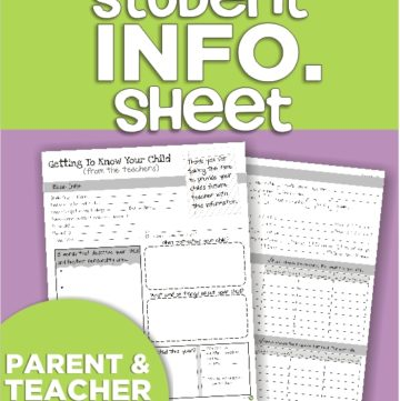 collecting student information before the school year :: KindergartenWorks