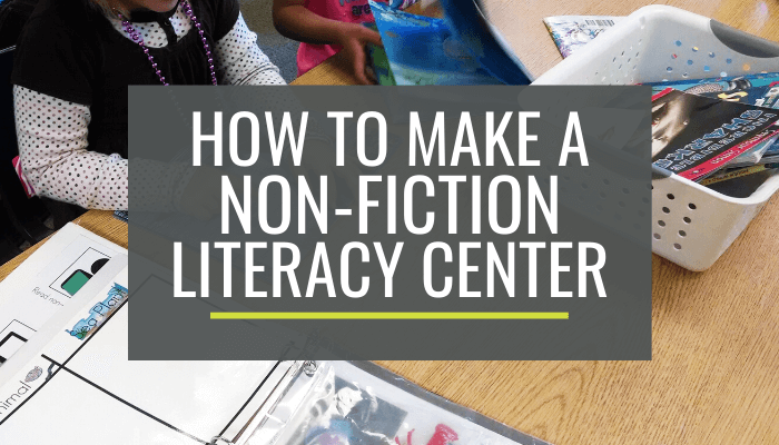 Easy Non-Fiction Literacy Center for Kindergarten