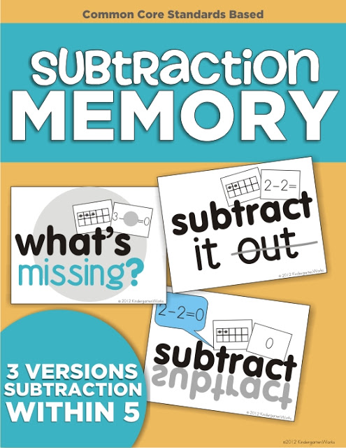 KindergartenWorks: subtraction - am I the last one?