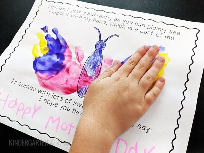 Mothers Day Handprint Poem - Free Kindergarten Activity