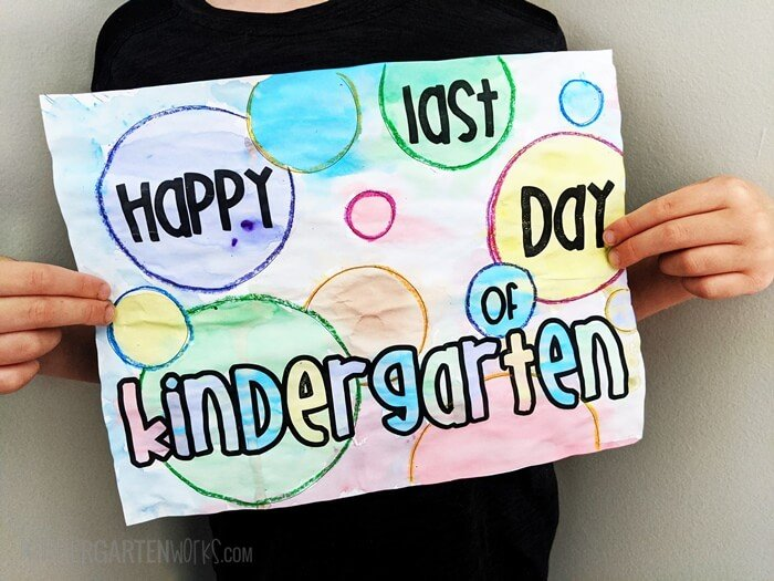 end of the year kindergarten memory banner {printable}