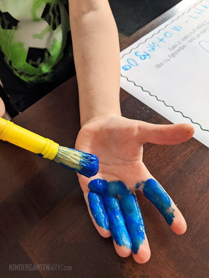 Painted Hands Mothers Day Handprint Poem - Free Kindergarten Activity