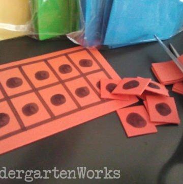 creating ten frame manipulatives - KindergartenWorks
