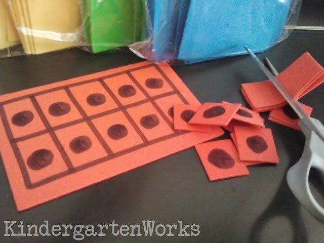 creating ten frame manipulatives - KindergartenWorks