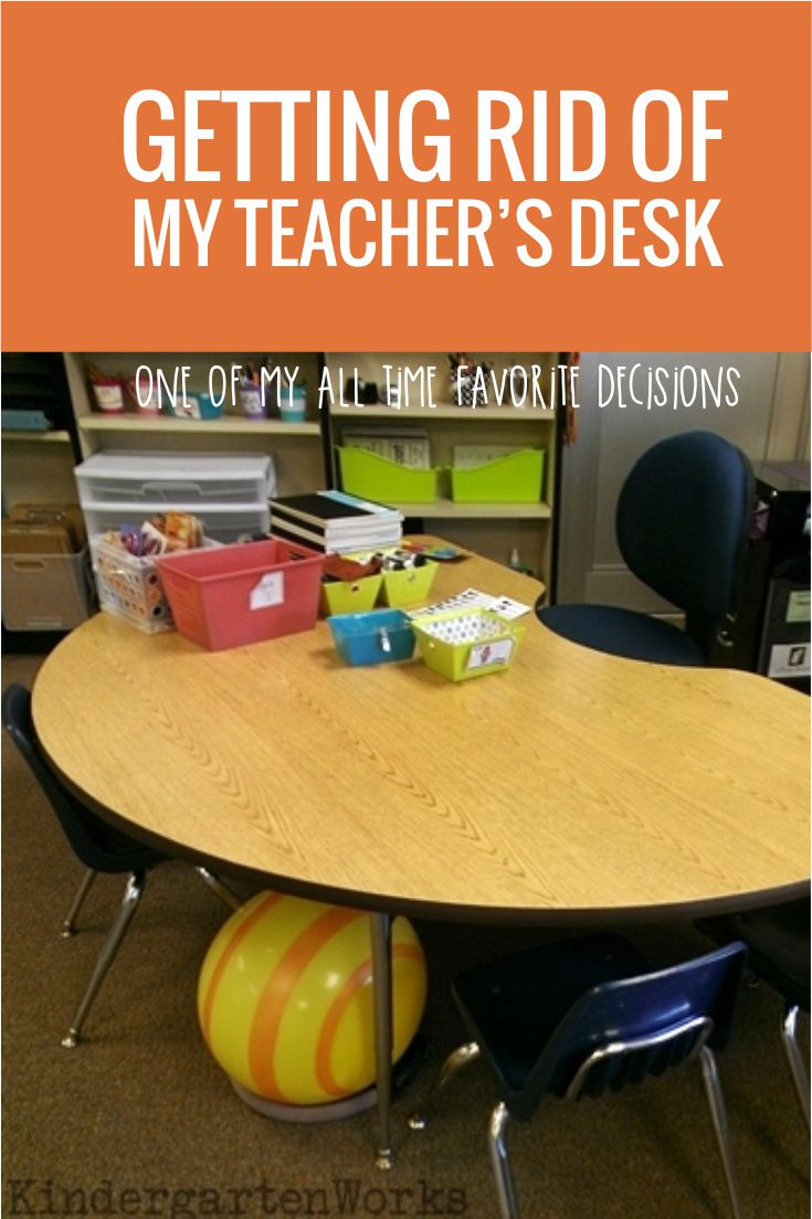 I ditched my teacher desk in kindergarten and went to alternative style seating. I'll never go back